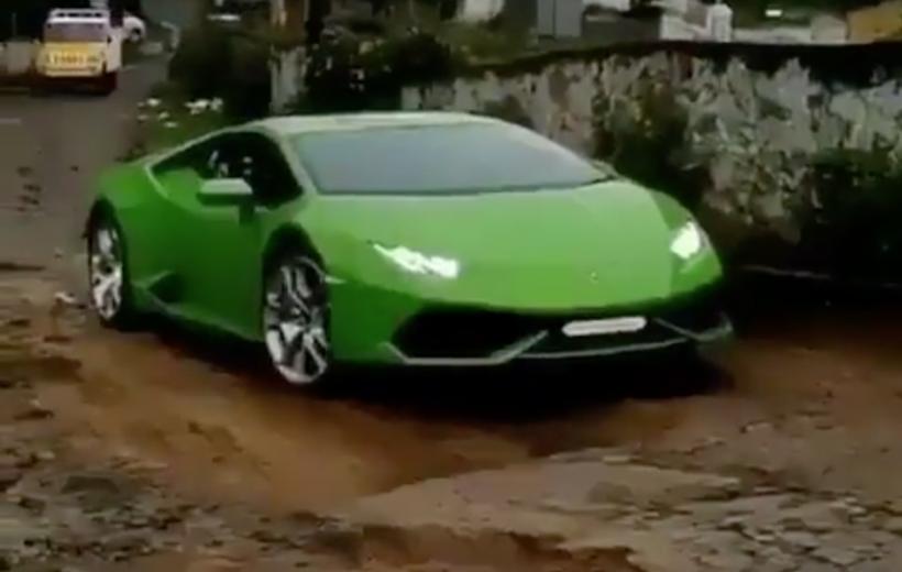 Video: Siêu xe Lamborghini Huracan vất vả 'off-road'