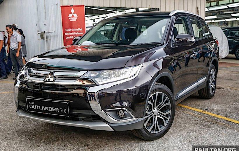 Cận cảnh Mitsubishi Outlander lắp ráp tại Malaysia có giá từ 758 triệu đồng