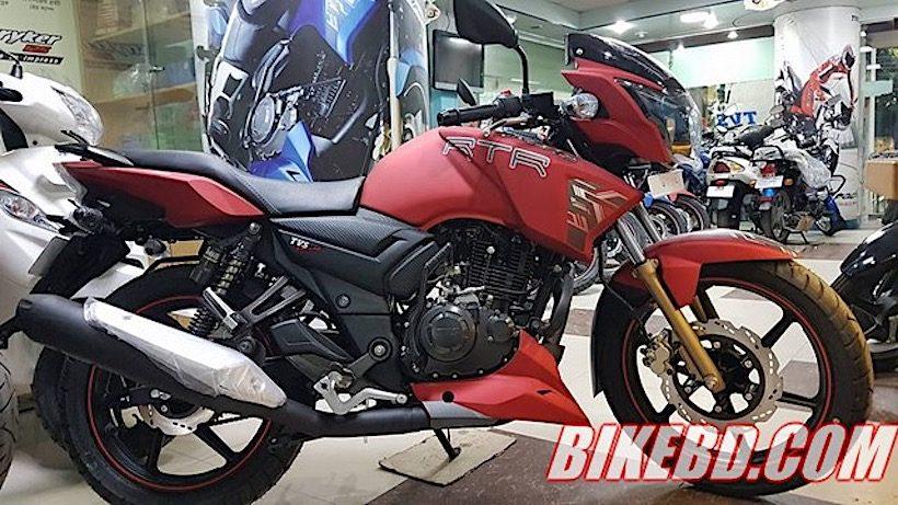 TVS Apache RTR 160 matte red ra mắt với giá chỉ 27 triệu đồng