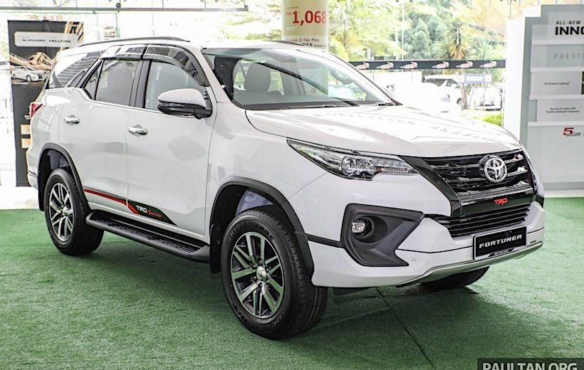 Toyota Fortuner máy dầu AT ra mắt tại Malaysia