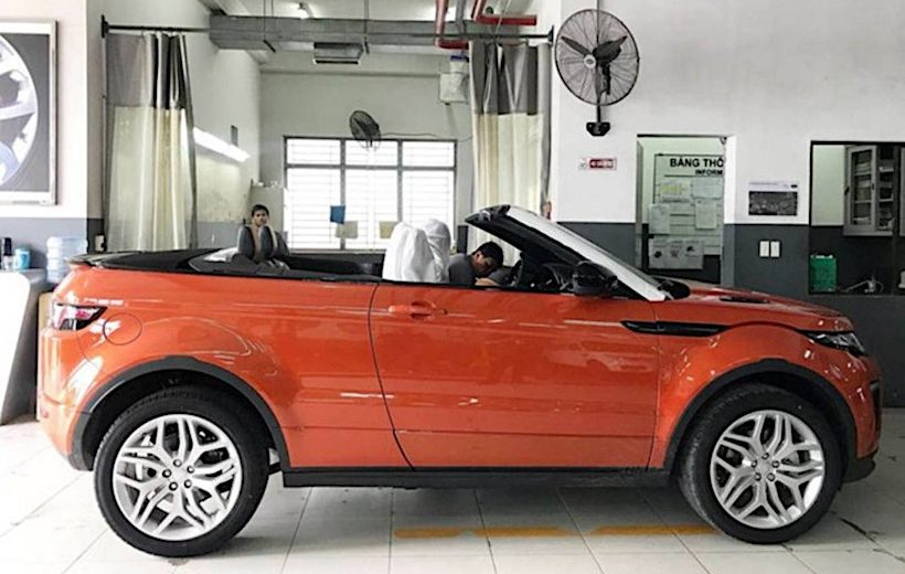 Land Rover Range Rover Evoque mui trần xuất hiện tại Việt Nam