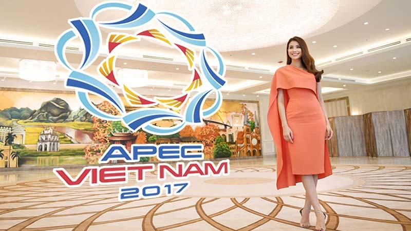 Hoa hậu Phạm Hương quảng bá du lịch Đà Nẵng nhân dịp APEC