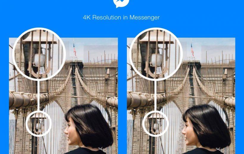 Facebook Messenger cho gửi ảnh độ phân giải 4K
