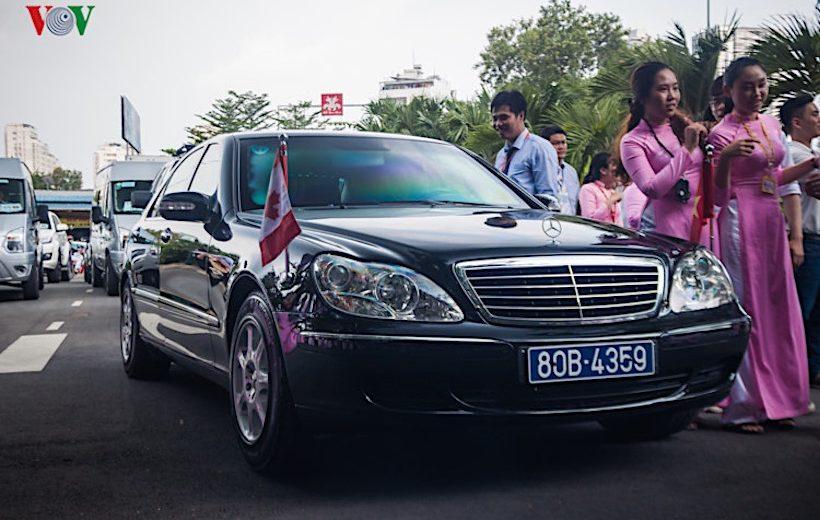 Chiêm ngưỡng đoàn xe hộ tống thủ tướng Canada tại Việt Nam