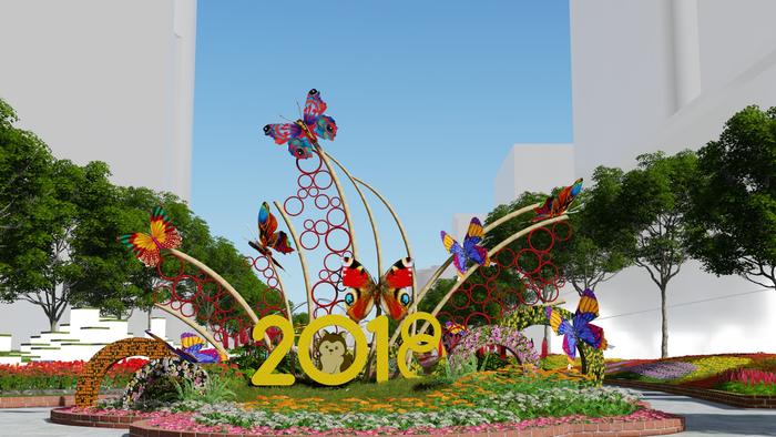 Ngày 13/2/2018 đường hoa Nguyễn Huệ sẽ khai mạc