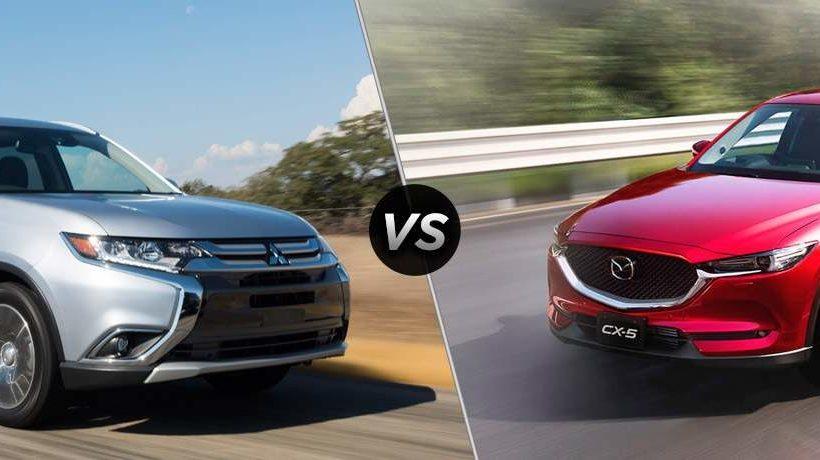 So sánh xe Mitsubishi Outlander và Mazda CX-5 2018