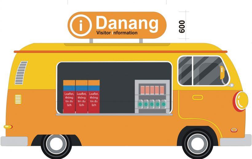 """Lắp đặt 5 """"xe"""" thông tin quảng bá du lịch Đà Nẵng"""