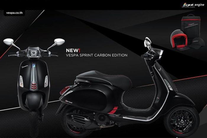 Piaggio Việt Nam có thêm phiên bản màu Carbon cho Sprint 2018