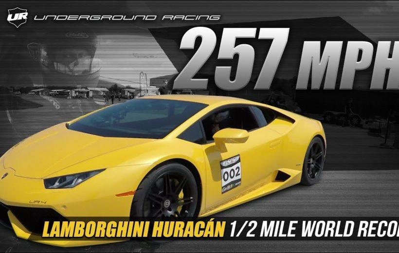 Lamborghini Huracan 257 MPH – 1/2 mile đạt 418km/h