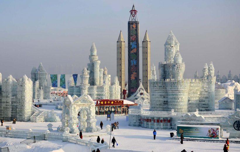 Băng tuyết đẹp như cổ tích ở Cáp Nhĩ Tân